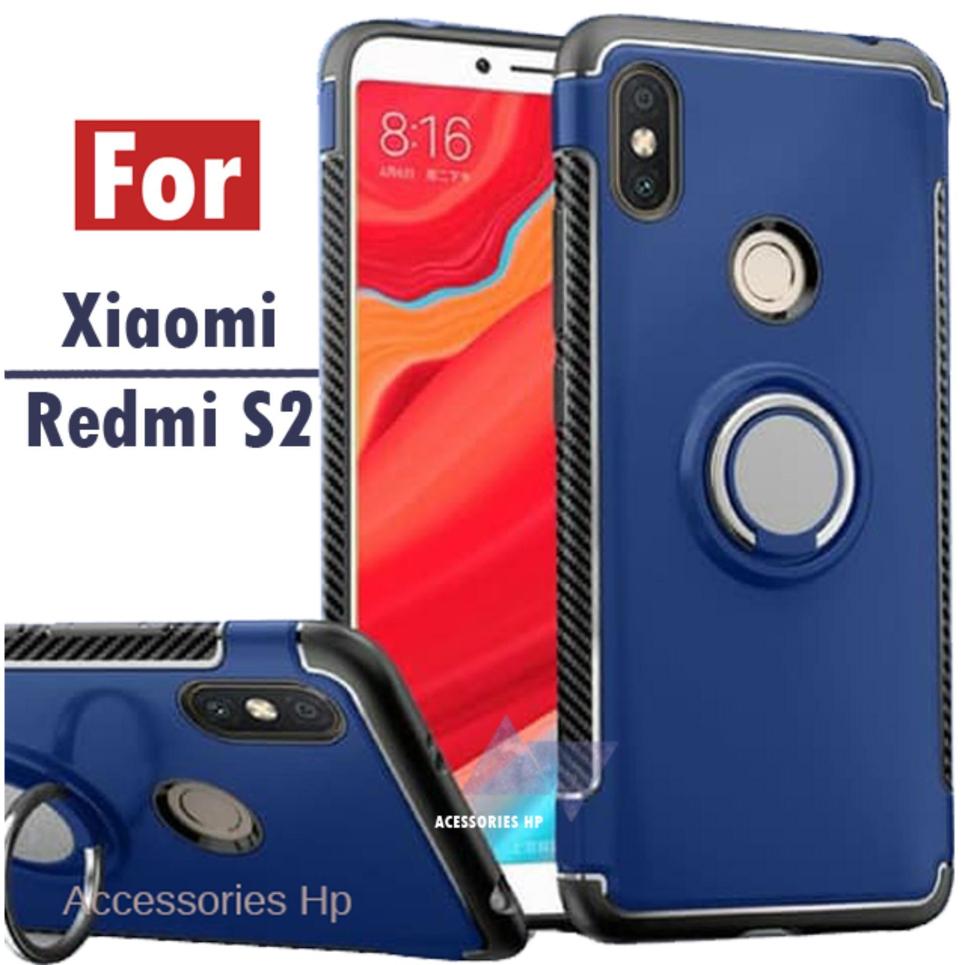 Accessories XIaomi Redmi S2 S2 Case Ultimate Carbon Ring Kickstand