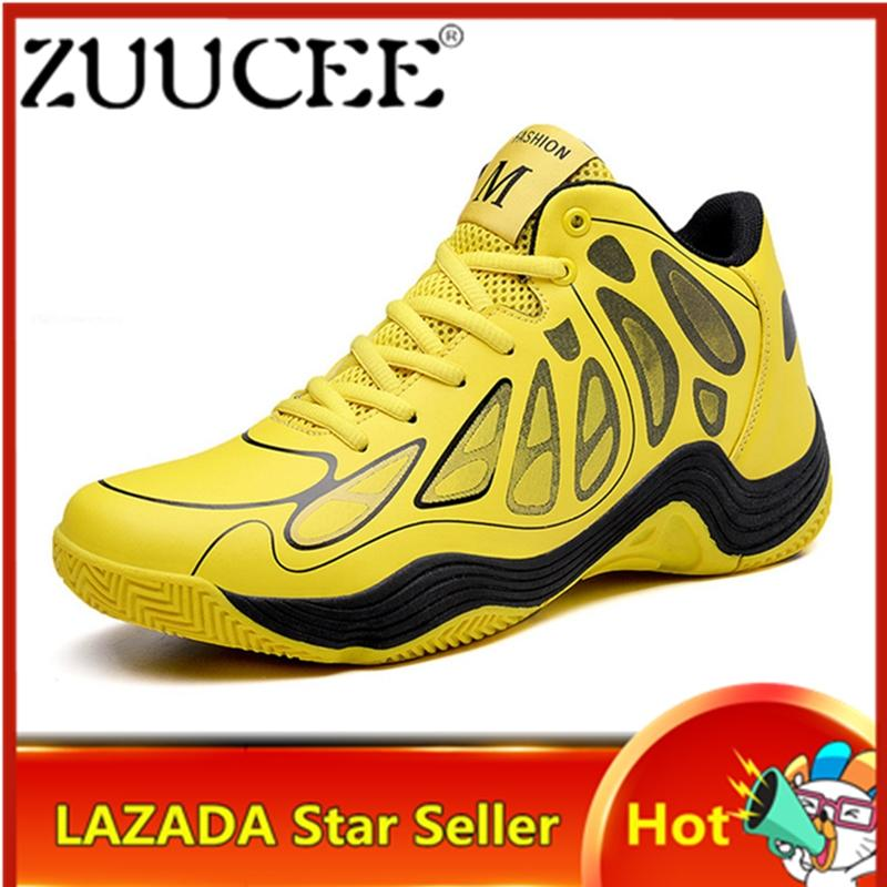 Zuucee Fashion Pria Sepatu Basket High-Top Sneakers Sepatu Nyaman untuk  Pria Free Shipping 42870bac9f