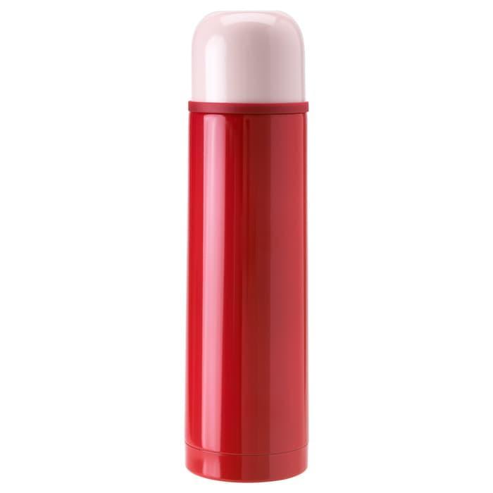 Botol Termos 0,5 L IKEA HALSA Thermos Air Minum Panas / Dingin Merah