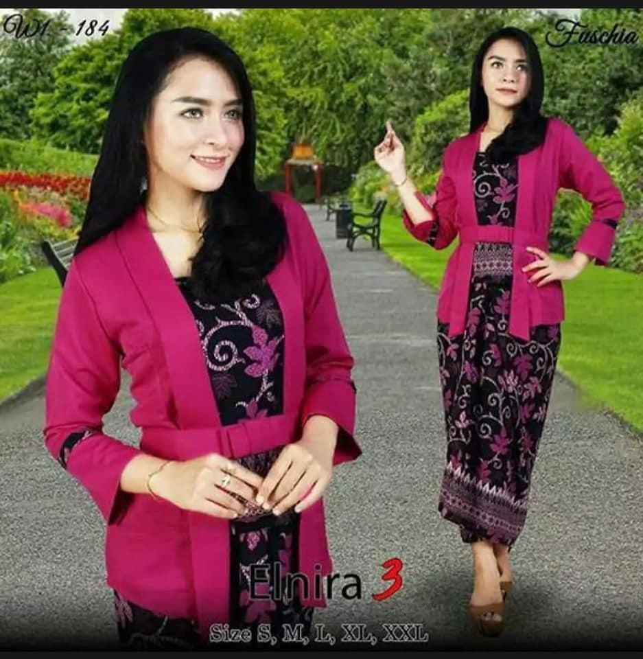 Stelan kebaya kutu baru & rok lilit. Elnira 3. / Kebaya Modern / kebaya Kartini / Kebaya Wisuda Dan Lain-lain