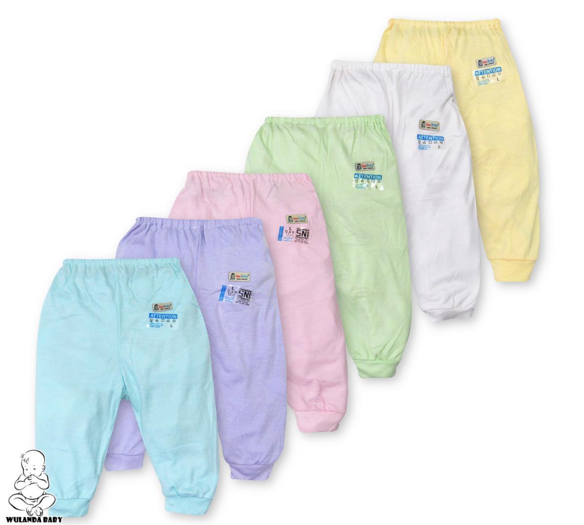 Wulanda 6 Pcs Celana Panjang Anak Bayi Laki Laki Dan Perempuan Warna Polos Yang Berbeda One Baby By Wulanda Baby.