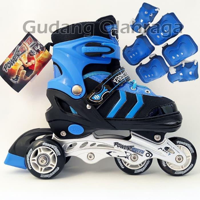 Sepatu Roda BAJAJ + Deker   Pelindung Inline Skate Satu Set c2f5e985c6
