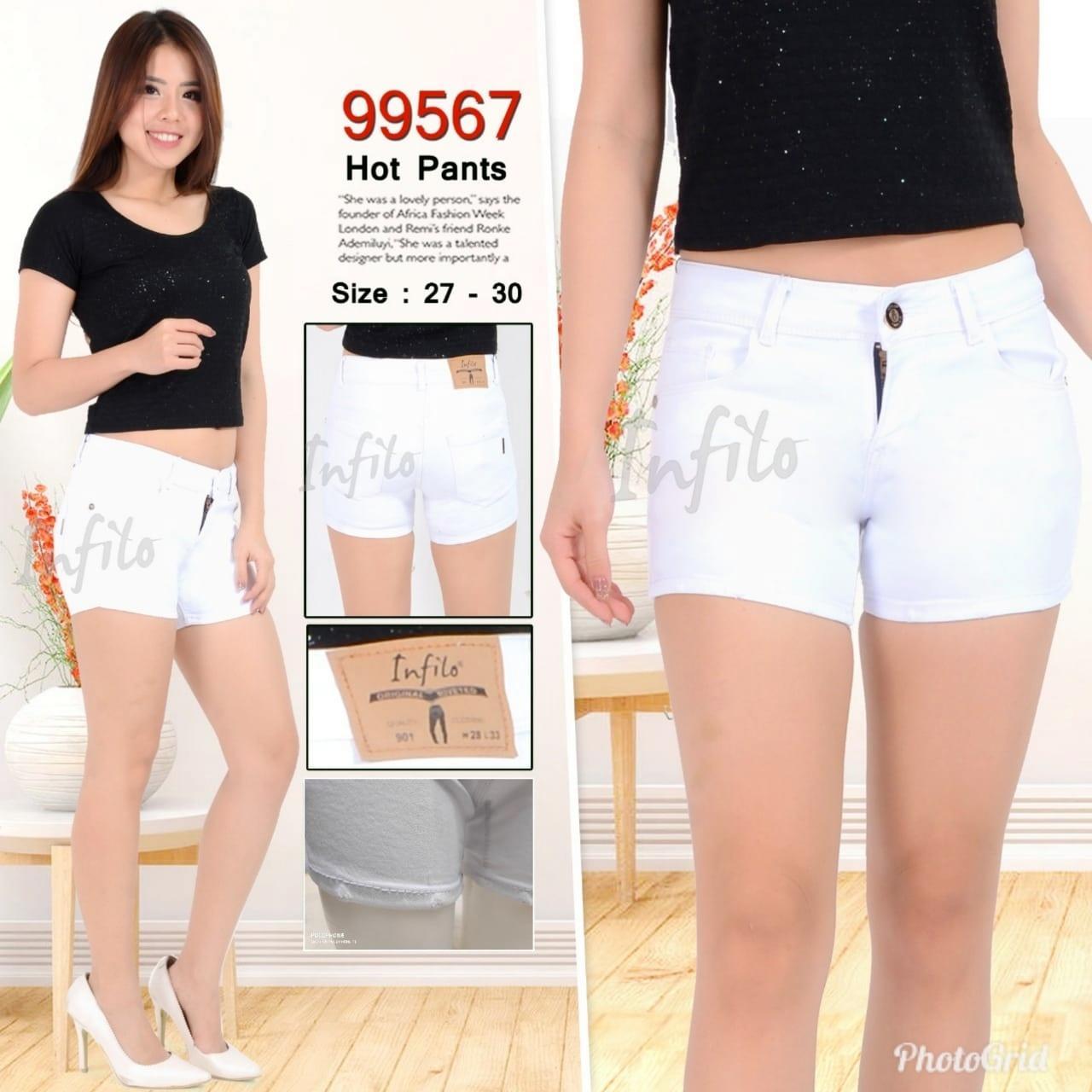 Celana Pendek Hotpants Stretch Soft Jeans Fashion Wanita Pakaian Wanita Celana Pendek Denim Wanita