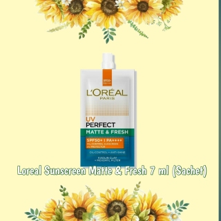 LOREAL UV Perfect Matte and Fresh Sunscreen SPF 50+++ 7ml (Sachet) thumbnail