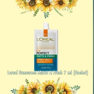 LOREAL UV Perfect Matte and Fresh Sunscreen SPF 50+++ 7ml (Sachet) thumbnail