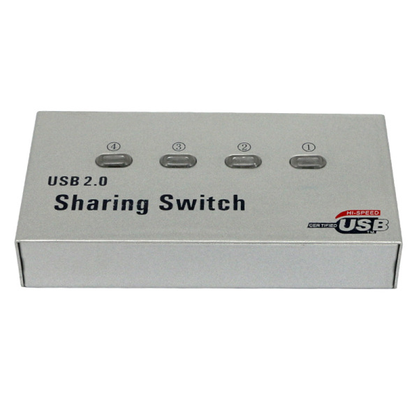 USB 2.0 4 Port Printer Sharing Automatic Device Printer Switch for Computers Laptops
