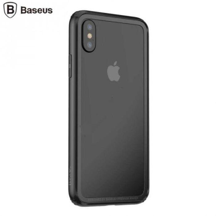 Bumper Hard & Soft Border Case for iPhone X - Hitam