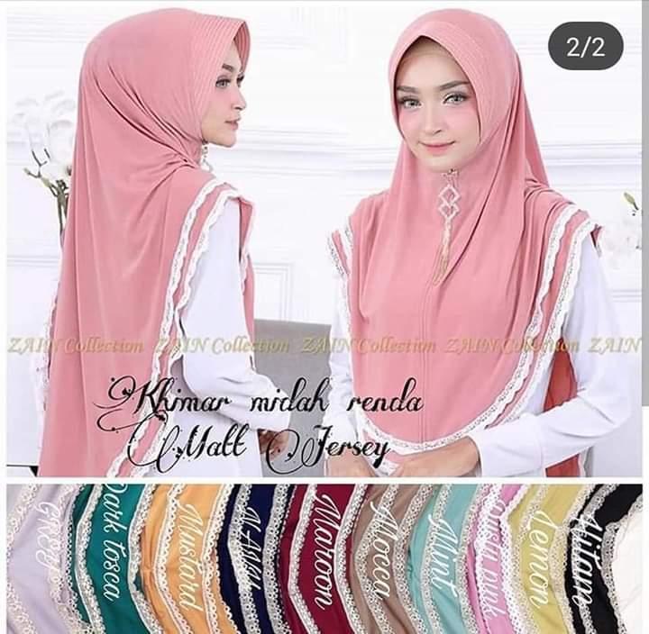 [COD] Jilbab / Hijab Khimar MIDAH RENDA- Kerudung Instant model terbaru