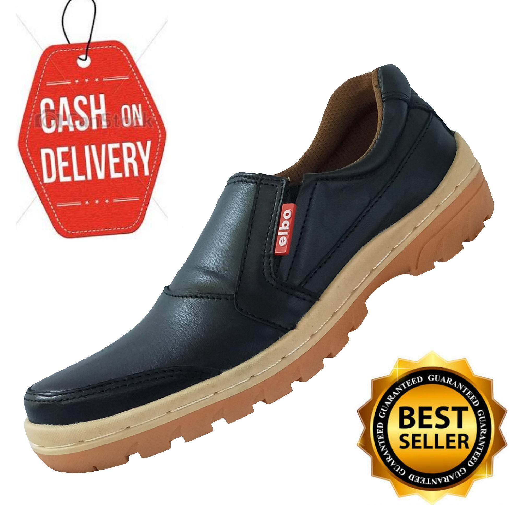 Sepatu Pria Casual   Sepatu Slip on Bahan Kulit Sapi Asli 100% - Hitam 03c7f40544