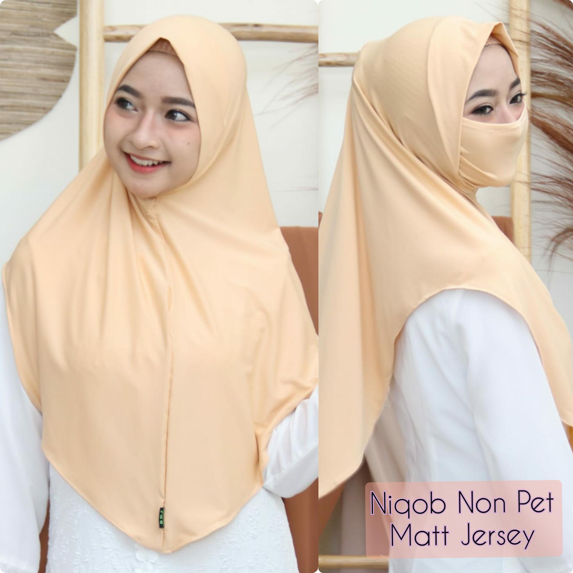 Hijab Instan Niqob Cadar Non Ped/Jilbab Masker