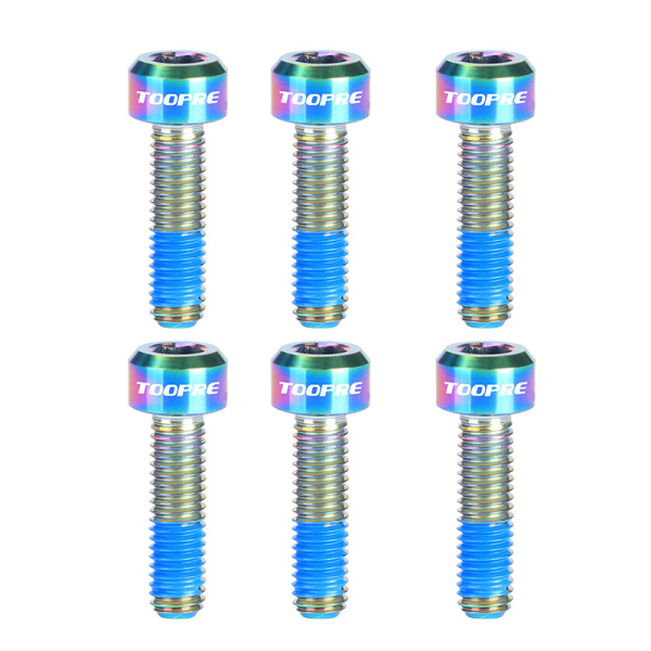 Phân phối TOOPRE 6Pcs Bike Stem Bolts M5X16MM Titanium MTB Road Bicycle Stem Screws Front Fork Fixed Screws