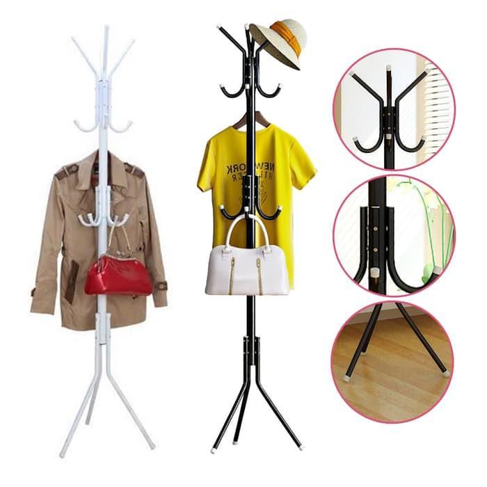 stand hanger gantungan baju pakaian topi tas jaket