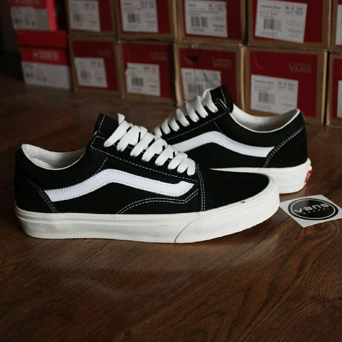 Jembar Store sepatu kets vans_old school & checkboard termurah terlaris pria/wanita/unisex free box size 36-43 bnib original - sneakers premium id