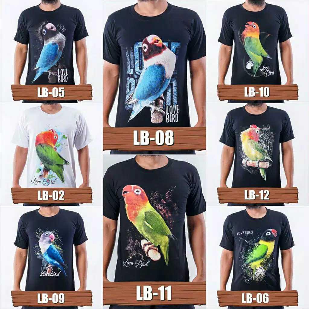 Kaos Lovebird Lb 11 Kaos Burung Kicau Mania Kaos Lovebird Mania Baju Gambar Lovebird Baju Desain Burung Baju Kaos Pria Kicau Mania Kaos Distro Pria Kicau Mania