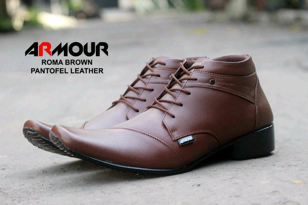 ARMOR ROMA - Sepatu Pantofel Pria / Sepatu Pantofel Kulit Asli / Sepatu Formal Pria / Sepatu Pantofel Tinggi / Sepatu Pantofel Tali / Sepatu Pantofel PDH / Sepatu Kerja Kantor / Sepatu Pesta / Sepatu Pantofel Anak Muda / Sepatu Pantofel Nikah