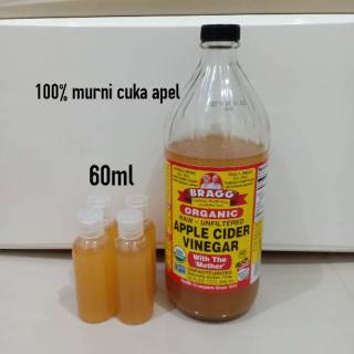 Bragg Apple Cider Vinegar ( Cuka Apel ) Original - share in jar 60 ml - Cuka Apel Bragg Original thumbnail