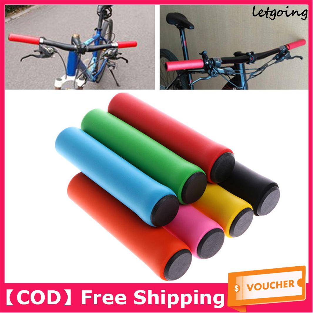 Red Bike MTB Ultralight Sponge Lock-on Grips Handlebar Soft Comfortable