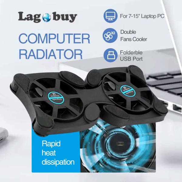 LAGOBUY Newest Foldable USB Laptop Cooling Pads With Double Fans Mini Octopus Notebook Cooler Cooling Pad For Inch Notebook Laptop