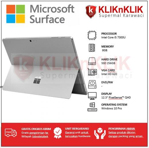 MICROSOFT Surface Pro 5-i5-8GB-256GB Silver