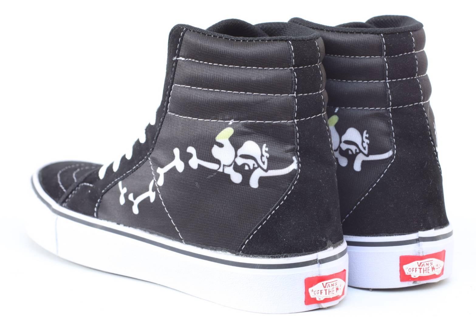 Sepatu Sneakers Vans SK8 X BAPE Shark Teeth Checkerboard Catur Bones Supreme Vans Skate Casual Main Gaya Modis Keren Bonus Kaos Kaki
