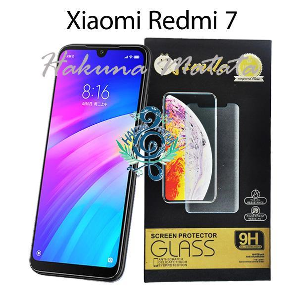 Clear Tempered Glass Xiaomi Redmi 7 Transparant Screen Guard Protector Anti Gores Kaca