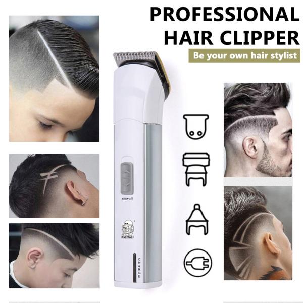 Jiuch Kemei KM-2599 Professional Barber Hair Clipper Cordless Hair Trimmer Beard Trimer For Men Electric Hair Cutting Machine Rechargeable Hair Cut Mute Hair Clipper