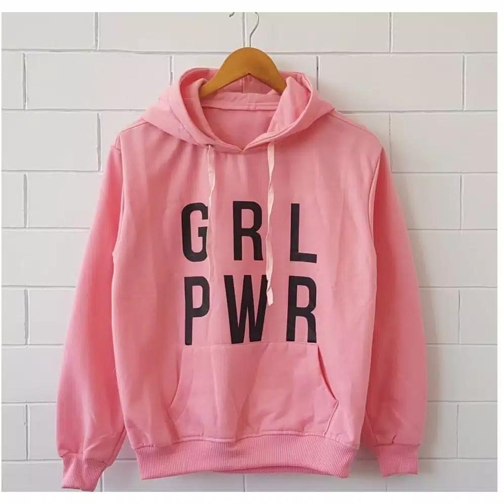 Sweater Wanita - GRL PWR Hodie Sweater - Fleece - Pink
