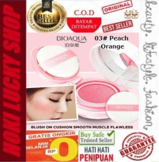 LUCKY COD - Bioaqua Blush On Air Cushion Smooth Muscle Flawless 03 Peach Orange thumbnail