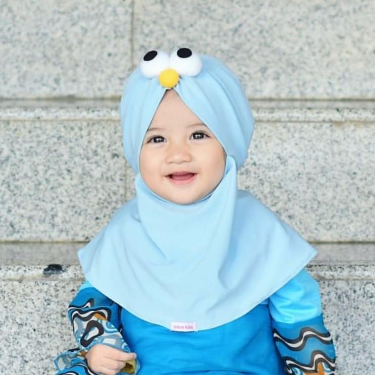 kerudung anak / Jilbab Hijab Bayi / hijab anak / hijab perempuan elmo Anak Murah