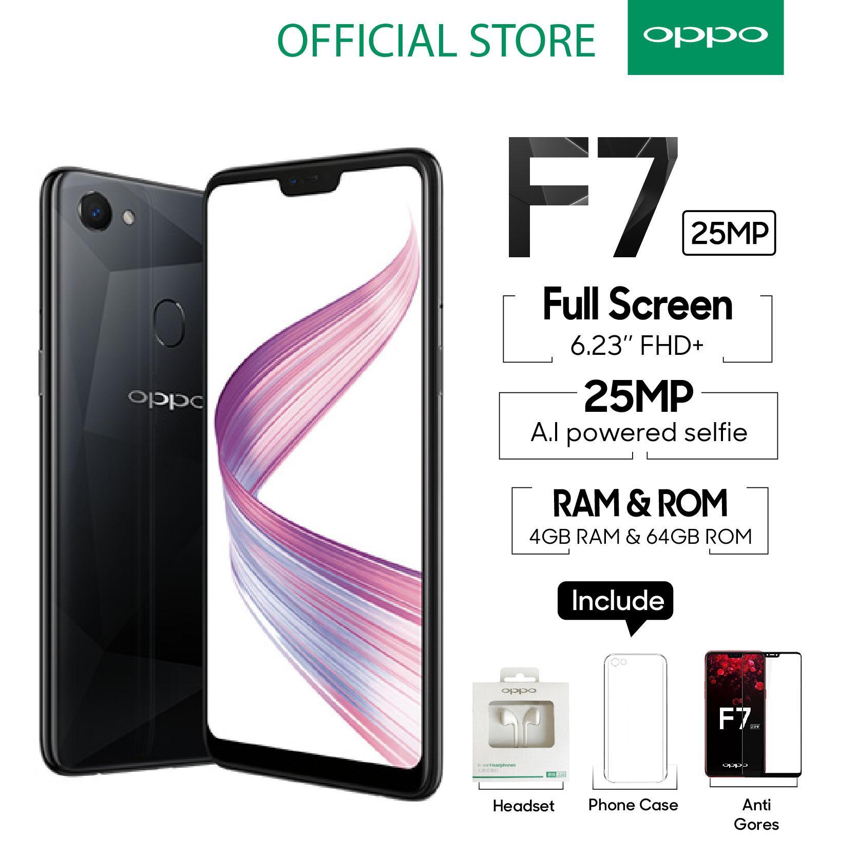 OPPO F7 SMARTPHONE 4GB/64GB Face Unlock, Al-Powered Selfie 25 MP (