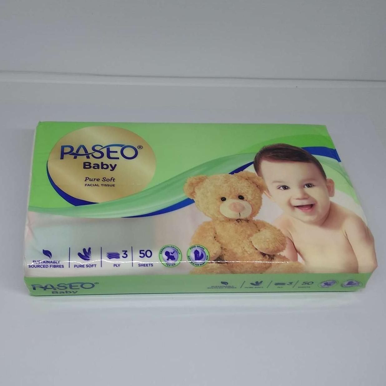 Tissue Paseo Baby Travel Pack 50 Lembar 3ply By Bubu Shop.