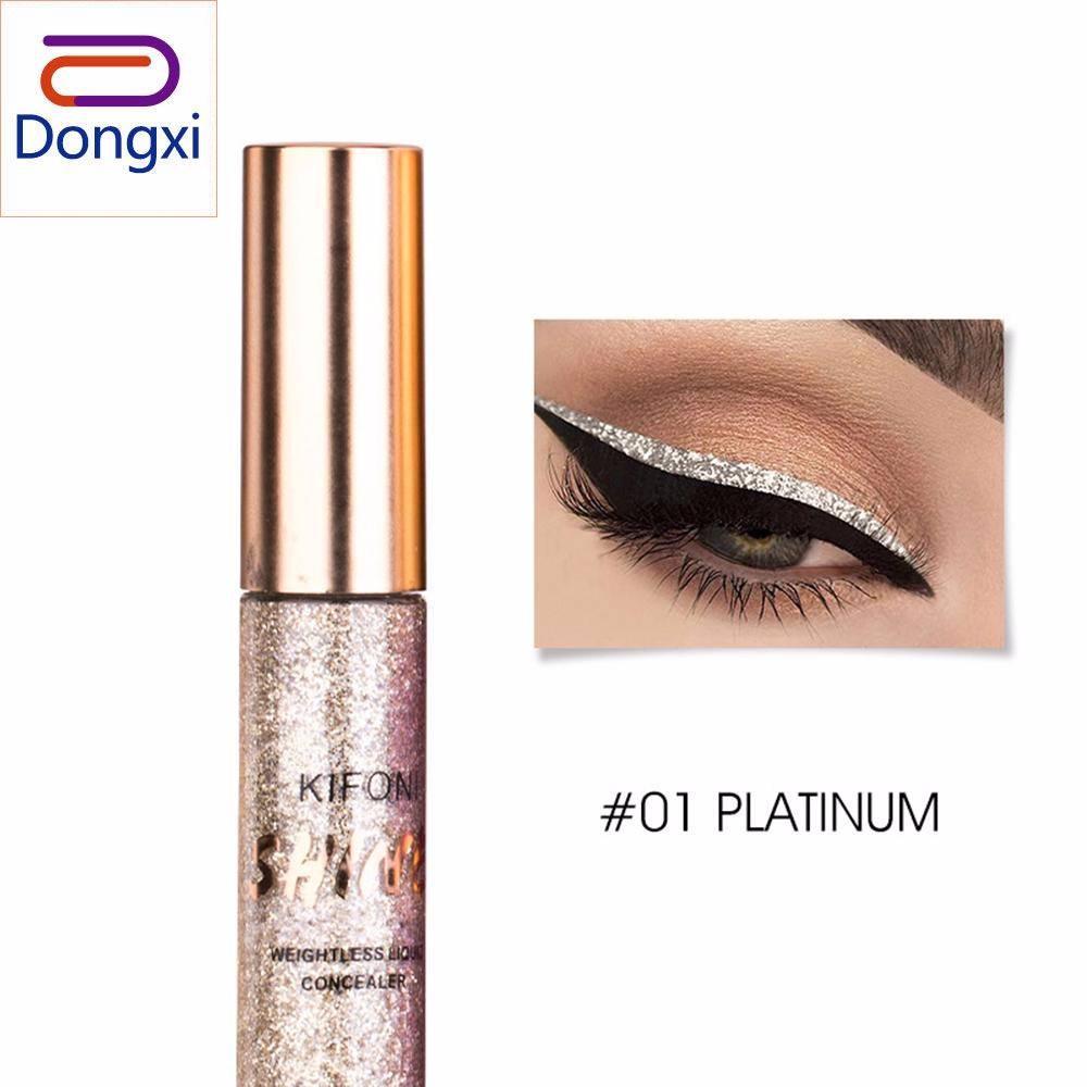 Dongxi Kifoni Mengkilap Eyeliner Crystal Panjang-Cair Awet Eyeliner Glitter Tahan Air Colorful Mudah untuk