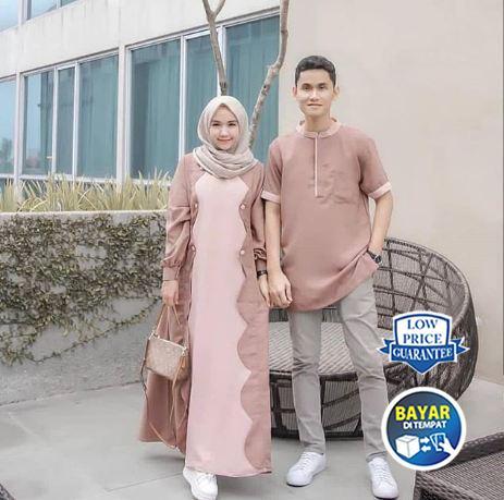 BPS Gisel Couple Baju Muslim Couple Set Pria Dan Wanita Terbaru Modern Promo