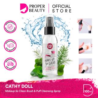 CATHY DOLL Makeup So Clean Brush & Puff Cleansing Spray Thailand Pembersih Alat Cosmetic Tools thumbnail