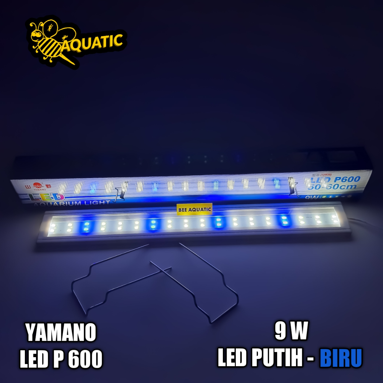 Lampu LED  Aquarium Aquascape 50-60 cm Yamano P600 Model Jembatan