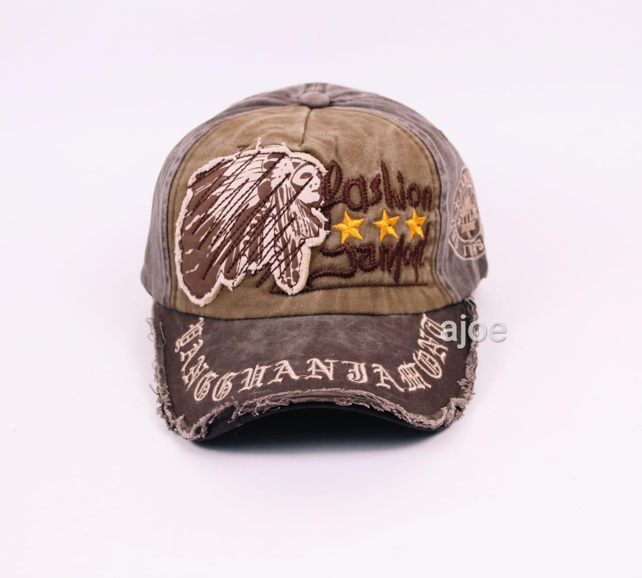 Ajoe Topi import baseball motif bordir sablon dan tambal   topi import    Topi Distro Original fd7911079e
