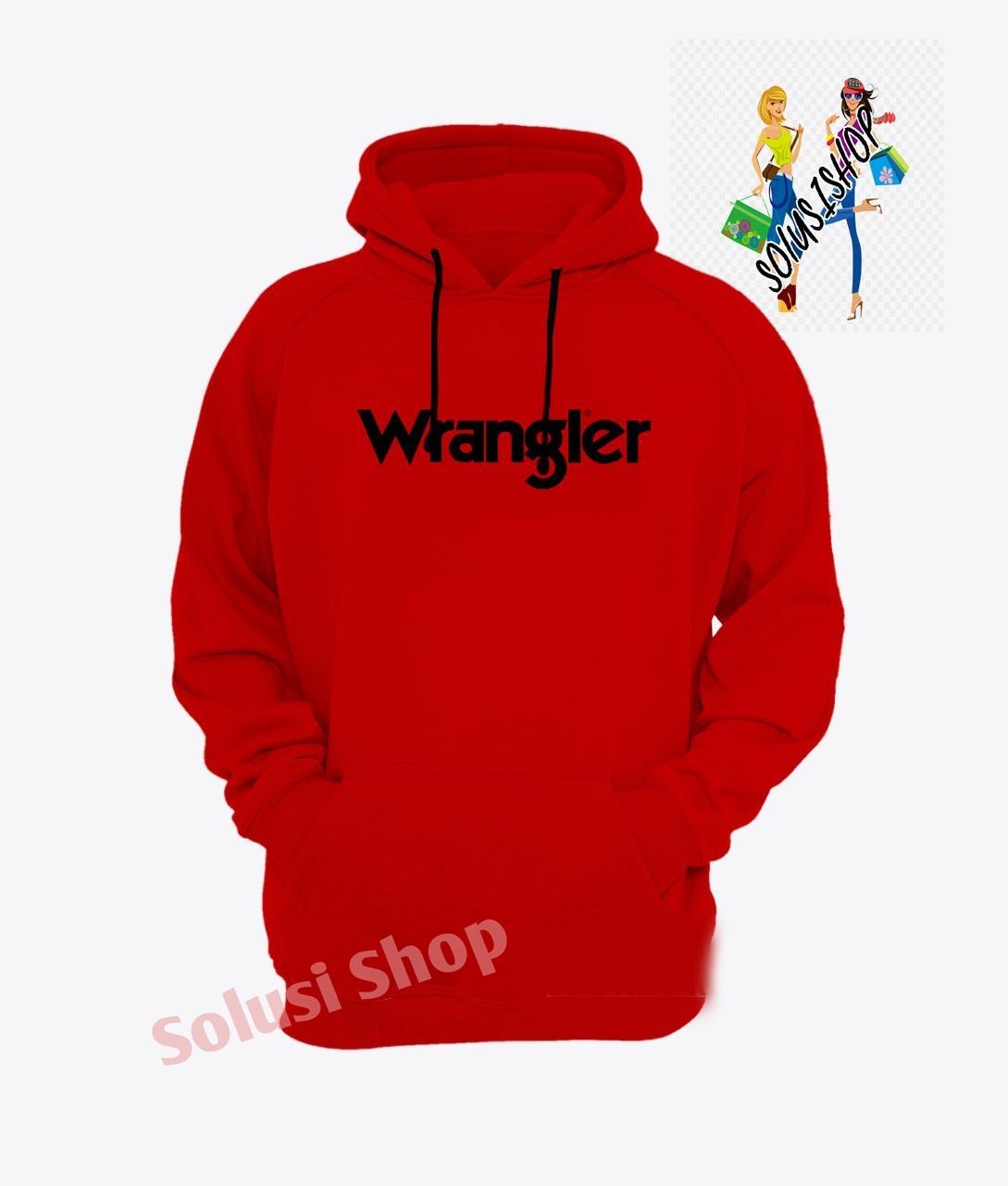 Jaket Hoodie Wrangler Logo Texs Hitam Fashion Keren