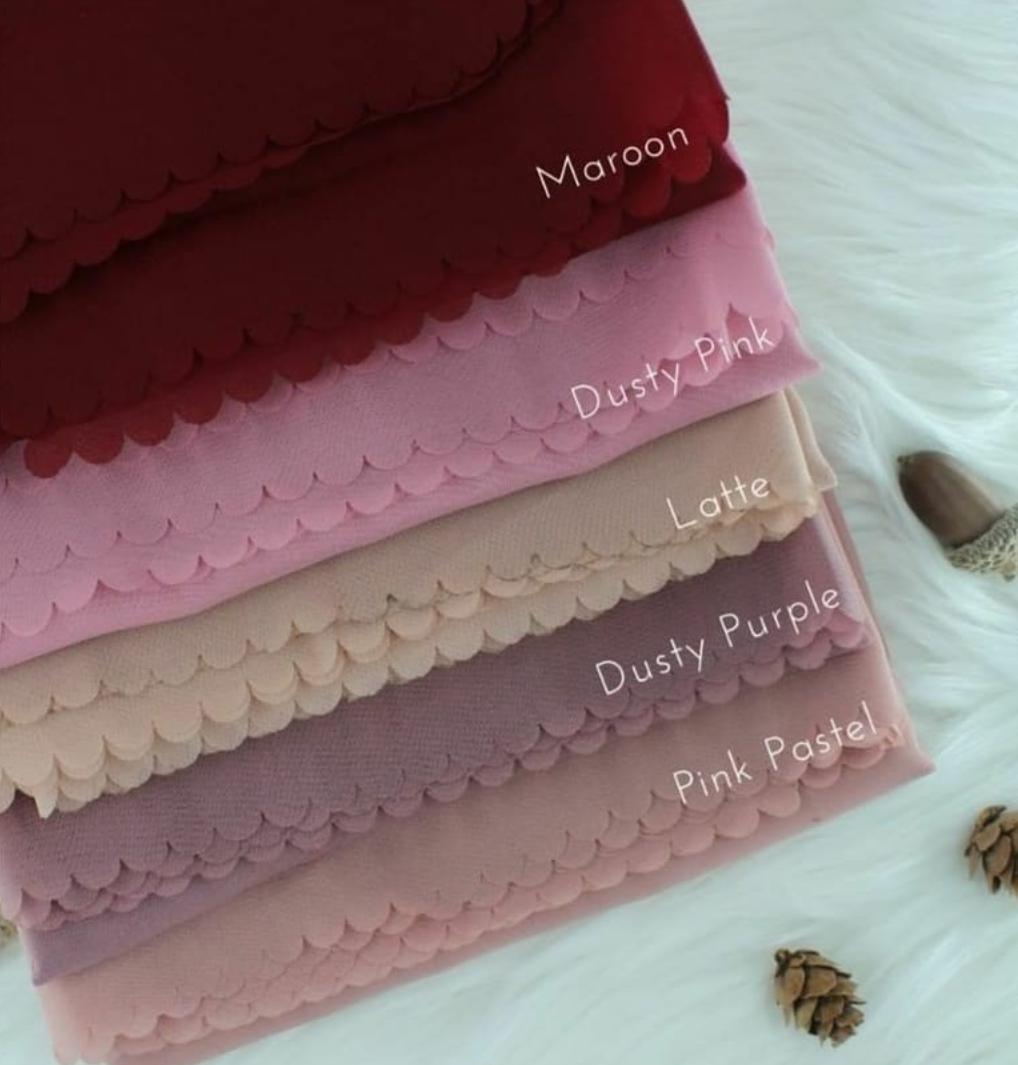 Hijab Laser Cut Bella Segiempat / Kerudung Segi empat laser / Jilbab warna terlengkap BLSC 1120
