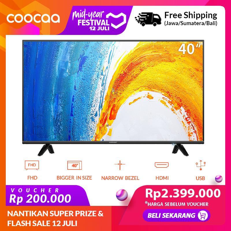 [GRATIS ONGKIR] COOCAA LED TV 40 inch - Full HD Panel - Slim - USB/HDMI (Model : 40D3A)