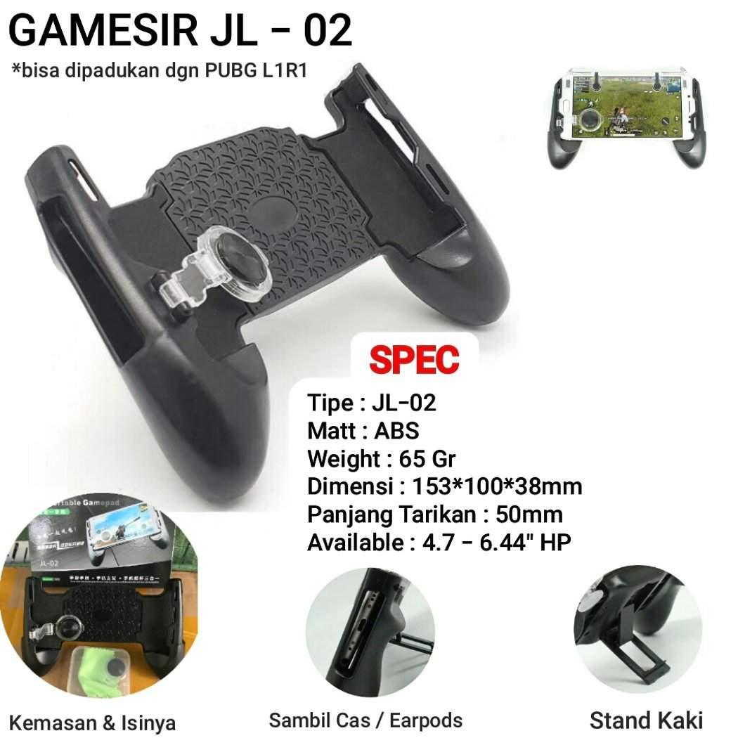 Gamepad 3in1 Game pad Handgrip standing + Joystik F1 Holder Smartphone Mobile Legend , PUBG , AOV Murah Grosir gamers game hp stand