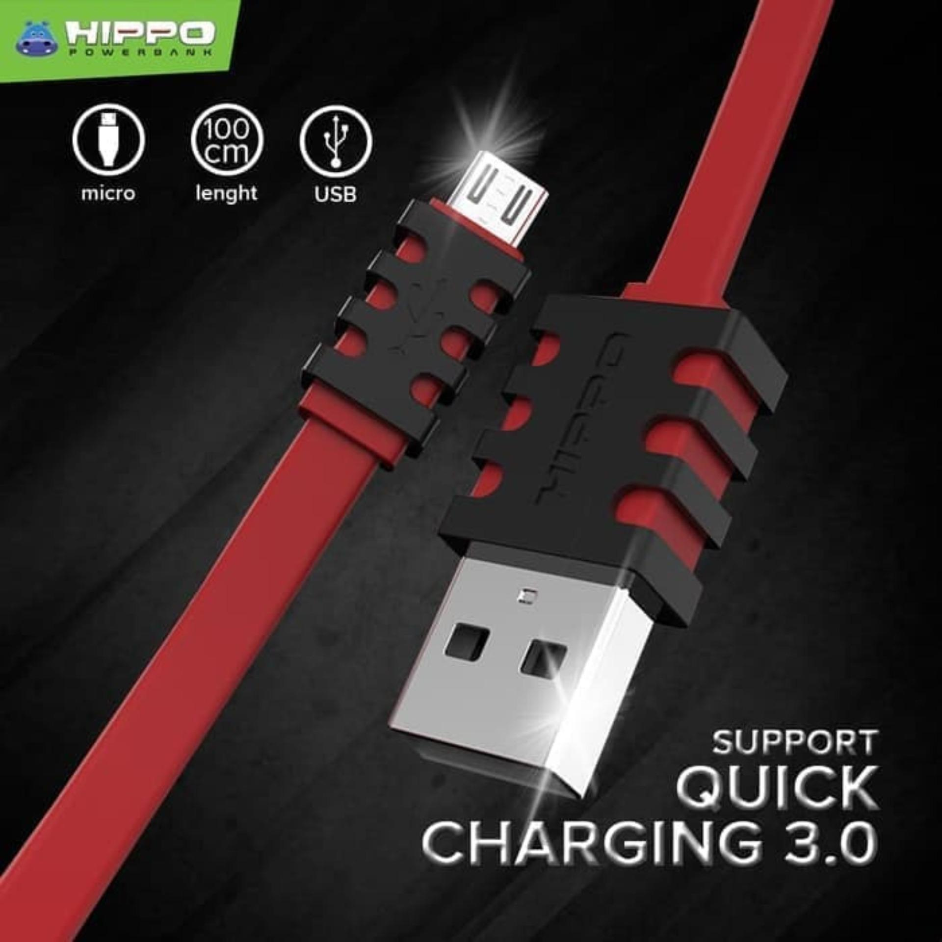 Hippo Caby 3 Mechanical Kabel Data Micro USB Fast Charging Original ( Quick Charge 3.0 )