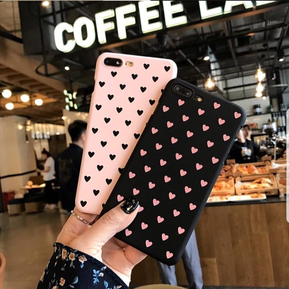 Softcase Love Black n Pink Oppo A37 A37F Neo 9 A3S A5S A7 F9 F11 Pro F11 A1K Realme C2