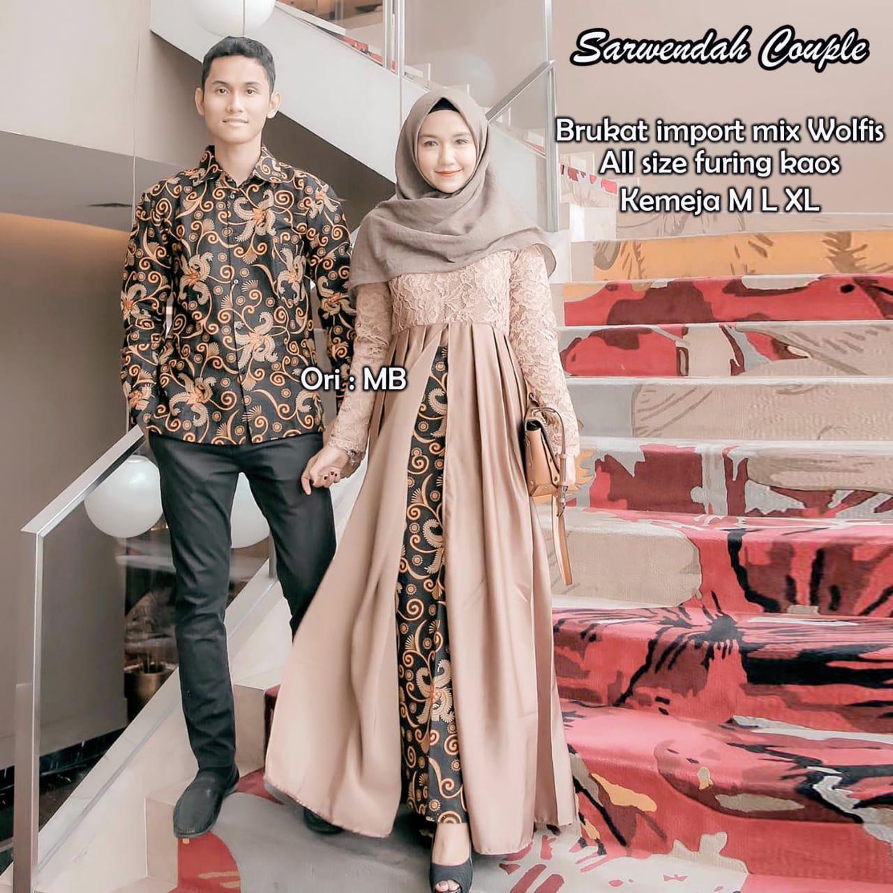 TERMURAH - Batik Couple / Couple Batik / Baju Muslim Wanita Terbaru 2018 / Batik Murah