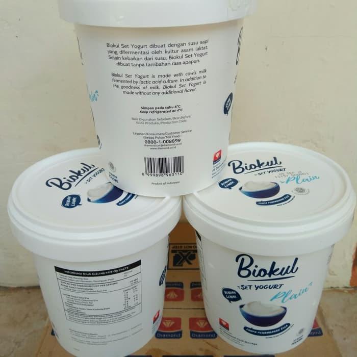 Yogurt Set Plain 1Liter Biokul Diamond (Satuan)
