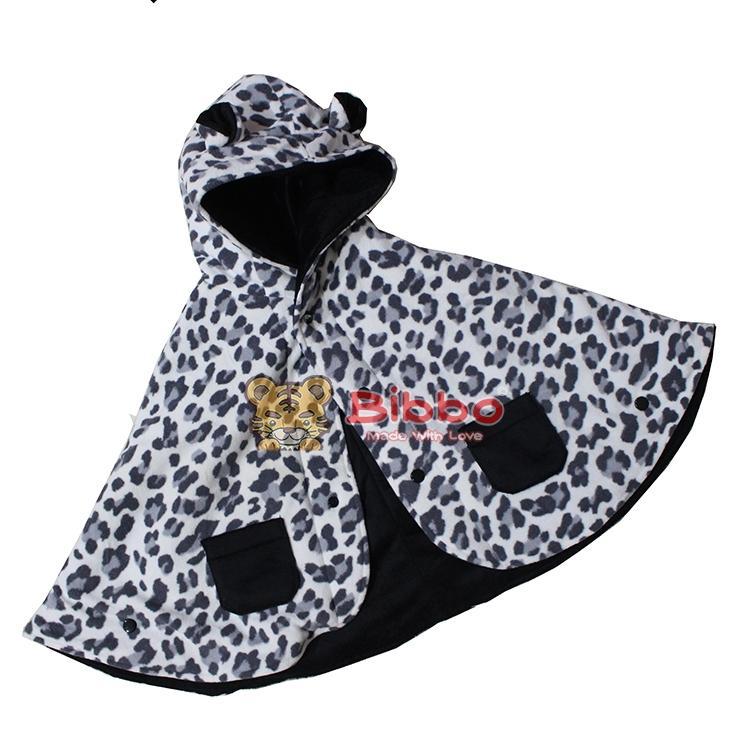 Babycape Bibbo - Black Leopard - Jaket Bayi Selimut Bayi
