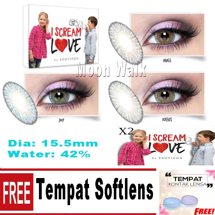 Softlens X2 I Scream Love Big Eyes 15.5mm + Tempat Softlens f8e20477f8