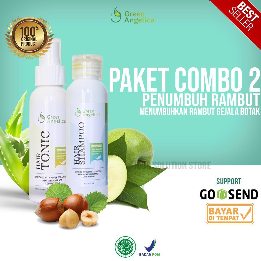 Obat Botak Alami Green Angelica Paket Perawatan Rambut Botak Ringan dan Penipisan  Rambut ASLI 100% 9bb9f4cfc4