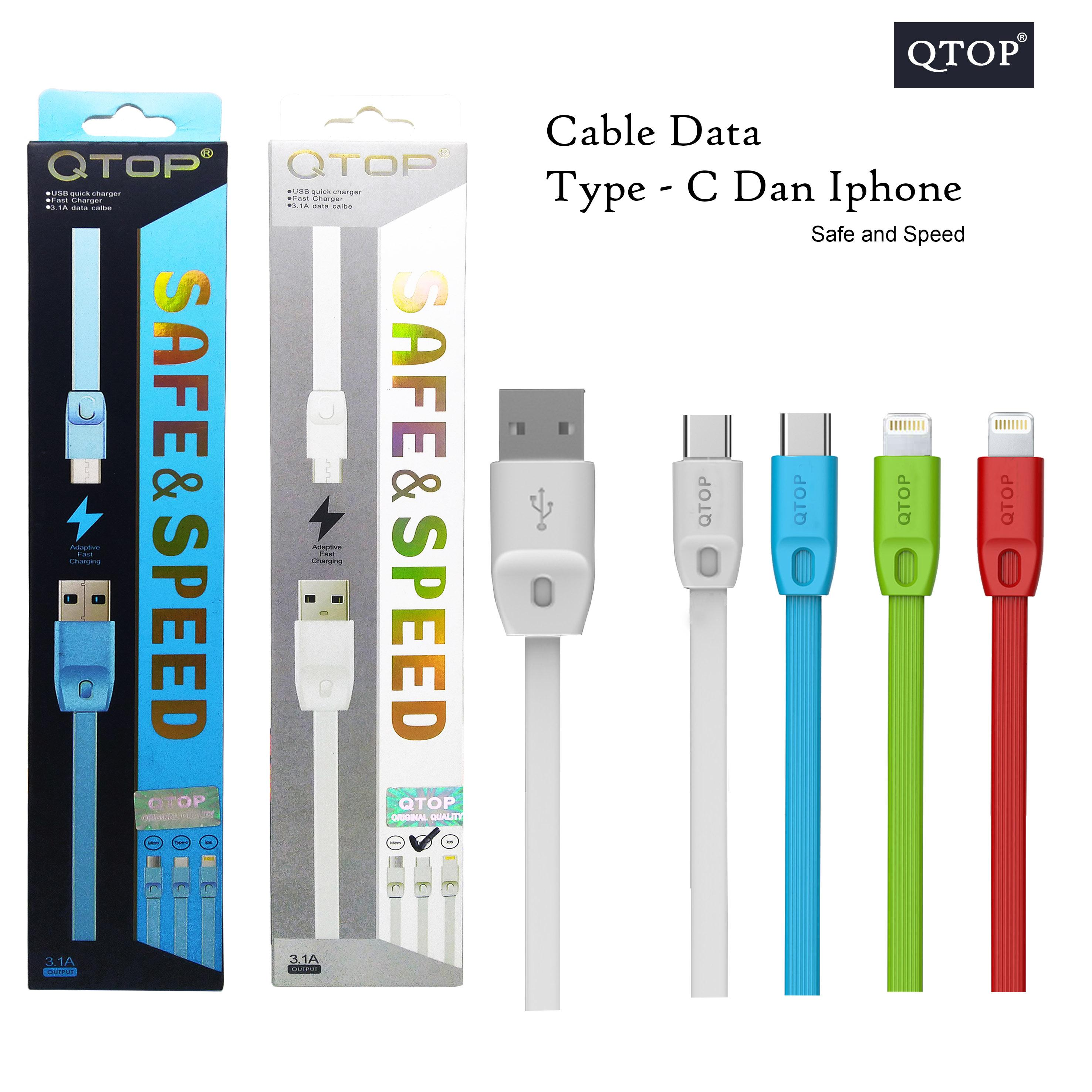 Kabel Data Qtop Style REMAX 1M - Fast Speed Iphone high Quality