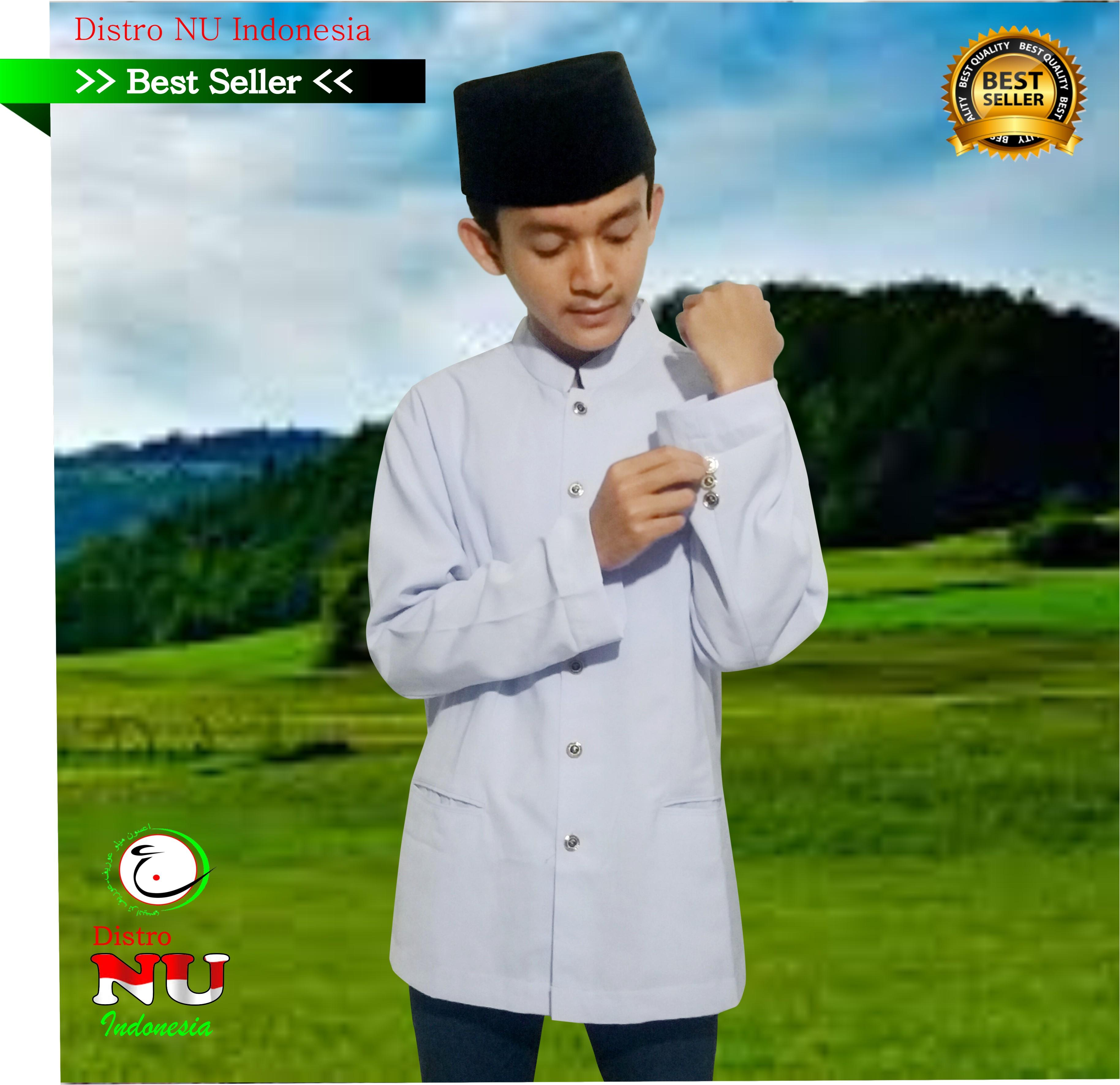 Baju Jasko Putih Hight Super Polos // jaket nu blazer kopyah sorban batik sarung nu