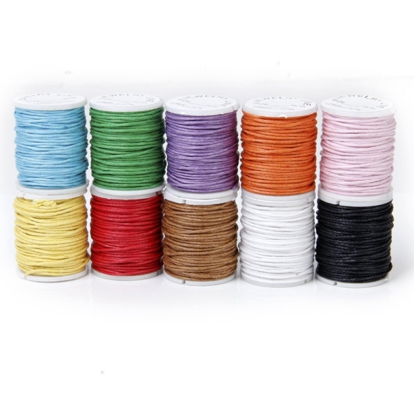 Bảng giá 10 Rolls Color Mixed Cord Cotton Wax String 1mm wire for Pearl Điện máy Pico